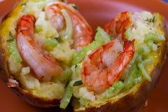 Batata da sopa de peixe do camarão Foto de Stock Royalty Free