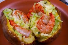 Batata da sopa de peixe do camarão Fotos de Stock