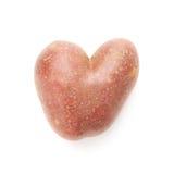 Batata dada forma coração isolada imagem de stock