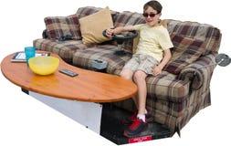 Batata de sofá final isolada foto de stock