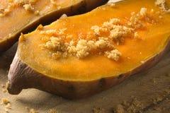 Batata doce e açúcar mascavado imagem de stock