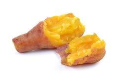 Batata doce fervida no fundo branco imagem de stock royalty free