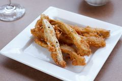 Batata doce & taro fritados Imagem de Stock Royalty Free