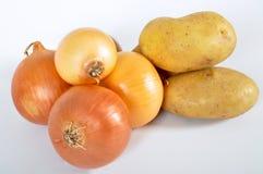 Batata e cebola Imagem de Stock