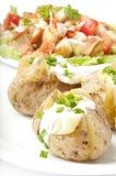 Batata e salada cozidas Imagens de Stock Royalty Free