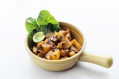Batata harra lebanese spicy fried garlic herb potato snack food Stock Photography
