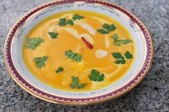 Batata śmietankowy zupny azjata lub tajlandzki styl Obrazy Stock