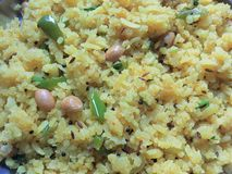 Batata poha recipe Royalty Free Stock Photo