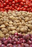 Batata, tomate & cebola Foto de Stock Royalty Free