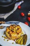 Batatas checas do gratin foto de stock