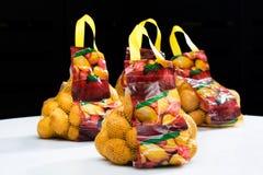 Batatas classificadas e embaladas Fotografia de Stock Royalty Free
