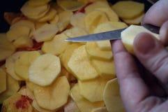 Batatas da fritada-acima Fotos de Stock
