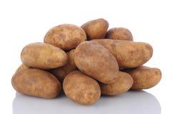 Batatas de Russet no branco Imagens de Stock Royalty Free