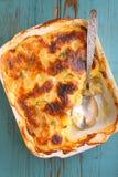 Batatas do Gratin com leite Imagem de Stock