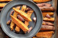 Batatas doces orgânicas Foto de Stock