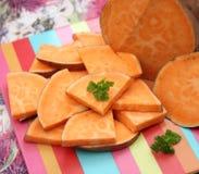 Batatas doces orgânicas Fotos de Stock