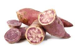 Batatas doces roxas cruas Imagem de Stock
