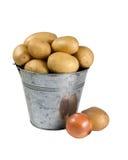 Batatas e cebolas Imagens de Stock Royalty Free