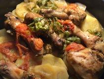 Batatas e galinha Imagem de Stock
