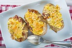 Batatas enchidas duas vezes cozidas Imagens de Stock