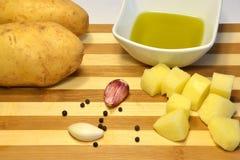 Batatas frescas Fotos de Stock