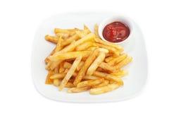 Batatas fritadas imagens de stock royalty free