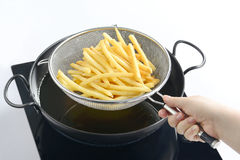 Batatas fritadas Fotos de Stock Royalty Free