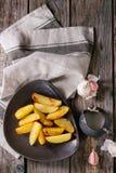 Batatas fritadas com molho Fotografia de Stock Royalty Free