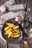 Batatas fritadas com molho Imagens de Stock Royalty Free