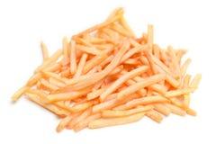 Batatas fritas isoladas em um fundo branco Fotos de Stock Royalty Free