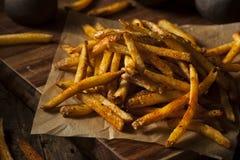 Batatas fritas temperados de Cajun Fotografia de Stock