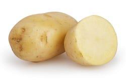 Batatas isoladas no branco Fotos de Stock Royalty Free