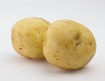 Batatas no branco Imagem de Stock Royalty Free