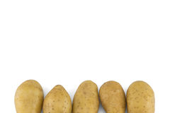 Batatas no branco Foto de Stock Royalty Free