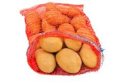 Batatas no saco Foto de Stock