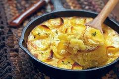 Batatas Scalloped Fotografia de Stock