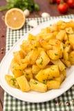 Batatas temperadas libanês Fotografia de Stock Royalty Free