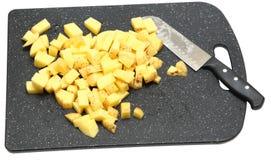 Batatas Unpeeled desbastadas de Yukon Fotografia de Stock