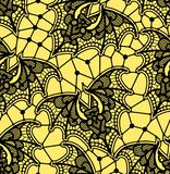 batavia картина безшовная Картина шнурка Желтая предпосылка иллюстрация вектора