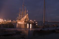 Batavia. Night-shot taken in lelystad Royalty Free Stock Photo