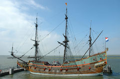 Batavia. Replica of VOC Boat, build in Lelystad, Netherlands Dutch tall  ship Stock Photo