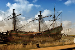 Batavia. Replica of historic galleon from Netherlands, rebuilt at the shipyard in Lelystad Flevoland Stock Photography