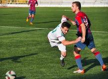 Bataysk Rússia Estádio de futebol 2 de outubro de 2016 fósforo de futebol t Imagens de Stock Royalty Free