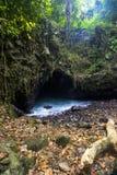 Batcave, ilha de Sangiang, Banten indonésia Fotografia de Stock