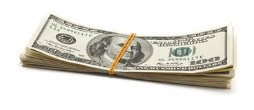 Batch of dollars Royalty Free Stock Image