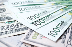 Batch of Euro in cash. Background Stock Photography