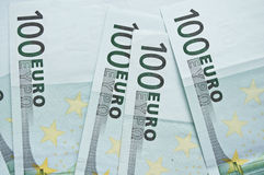 Batch of Euro in cash. Background Stock Image