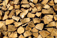 Batch of firewood Royalty Free Stock Photography
