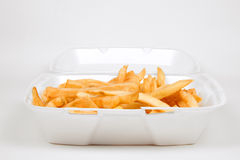 Batch of French Fries. A Batch of French Fries in a Take Out Container stock photography