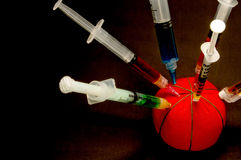 Batch of medical syringes Stock Photo